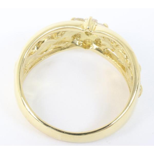 セイコージュエリー ダイヤモンド デザイン リング 18金 (K18)サイズ12.5 0.21ct 指輪 (質屋 藤千商店)|fujisen78|03