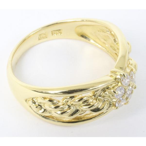 セイコージュエリー ダイヤモンド デザイン リング 18金 (K18)サイズ12.5 0.21ct 指輪 (質屋 藤千商店)|fujisen78|05