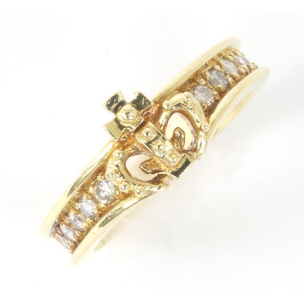 ジャスティンデイビス チェルシーバンドリング ダイヤモンド K18YG サイズ5号  指輪 (質屋 藤千商店)|fujisen78