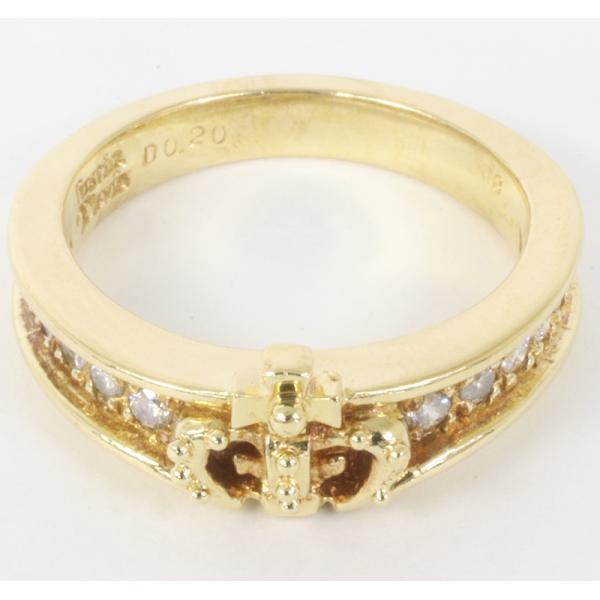 ジャスティンデイビス チェルシーバンドリング ダイヤモンド K18YG サイズ5号  指輪 (質屋 藤千商店)|fujisen78|02