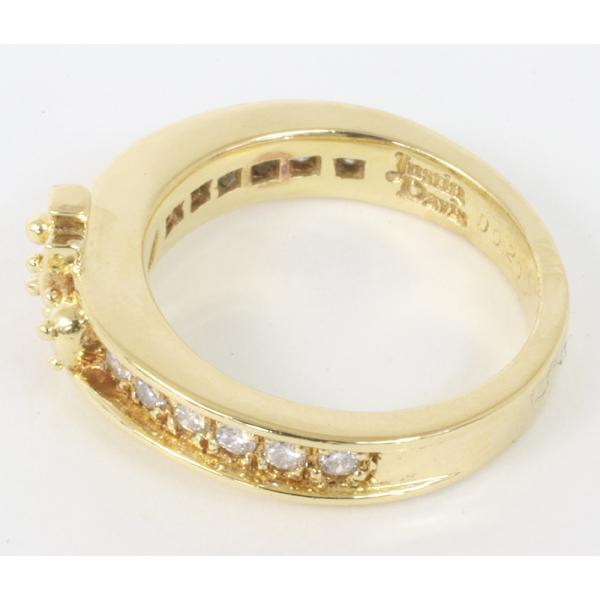 ジャスティンデイビス チェルシーバンドリング ダイヤモンド K18YG サイズ5号  指輪 (質屋 藤千商店)|fujisen78|03