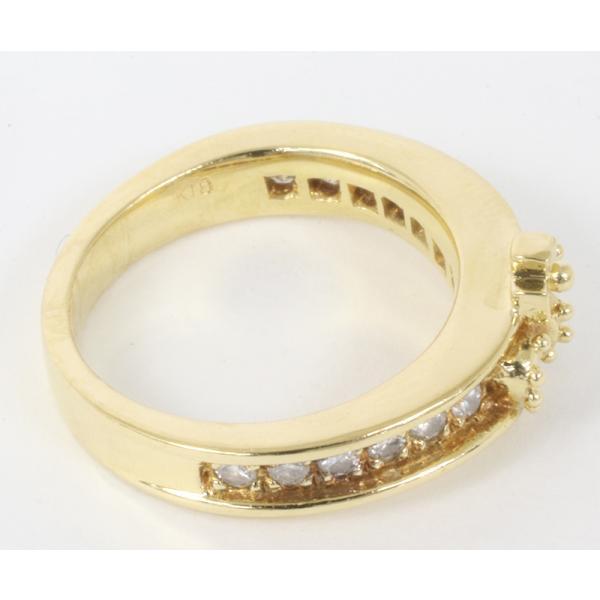 ジャスティンデイビス チェルシーバンドリング ダイヤモンド K18YG サイズ5号  指輪 (質屋 藤千商店)|fujisen78|04