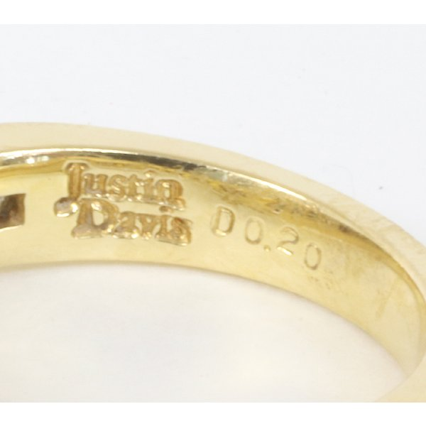 ジャスティンデイビス チェルシーバンドリング ダイヤモンド K18YG サイズ5号  指輪 (質屋 藤千商店)|fujisen78|06
