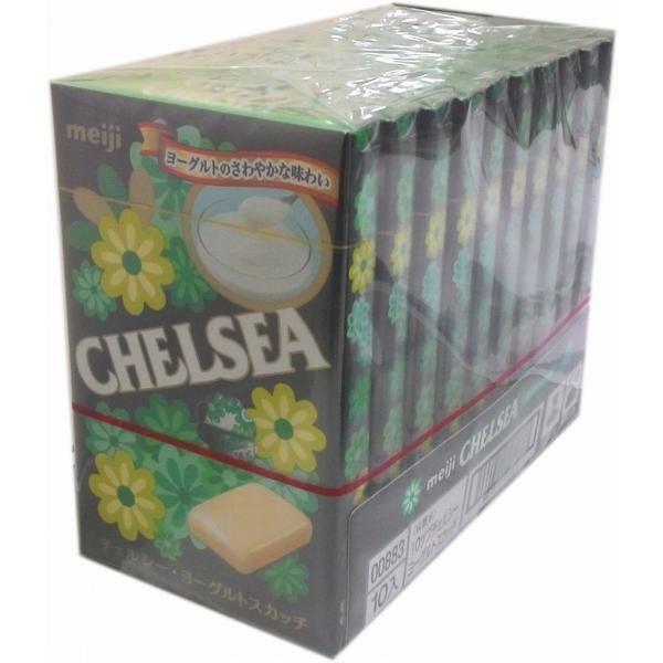 ■明治製菓  チェルシー ヨーグルトスカッチ 10粒×10箱 MEIJI まとめ買い CHELSEA