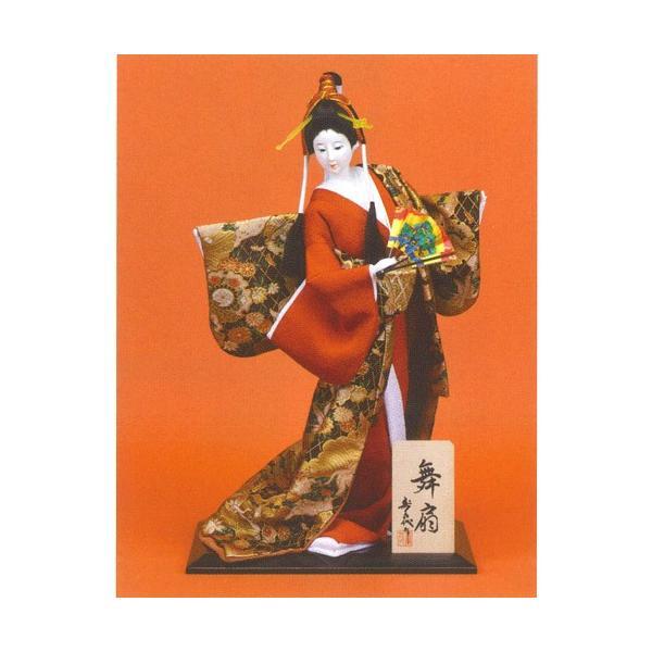 日本人形 尾山人形  『寿喜代作 舞扇 金らん 扇 10号』