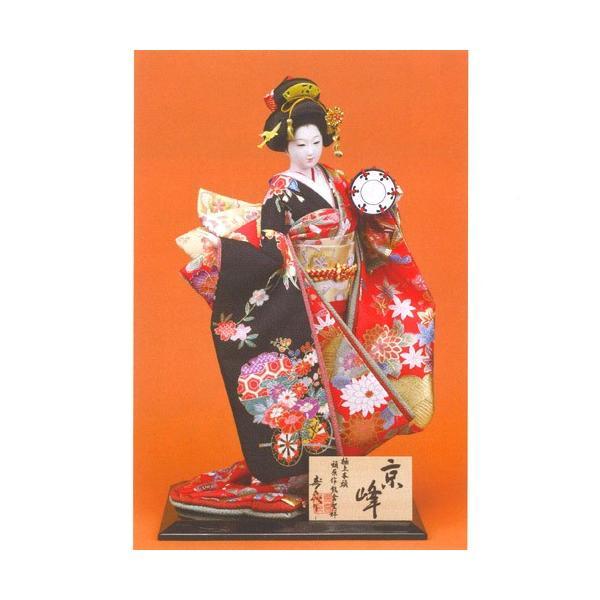 日本人形 尾山人形 極上本頭  『寿喜代作 京峰 正絹 鼓 10号』