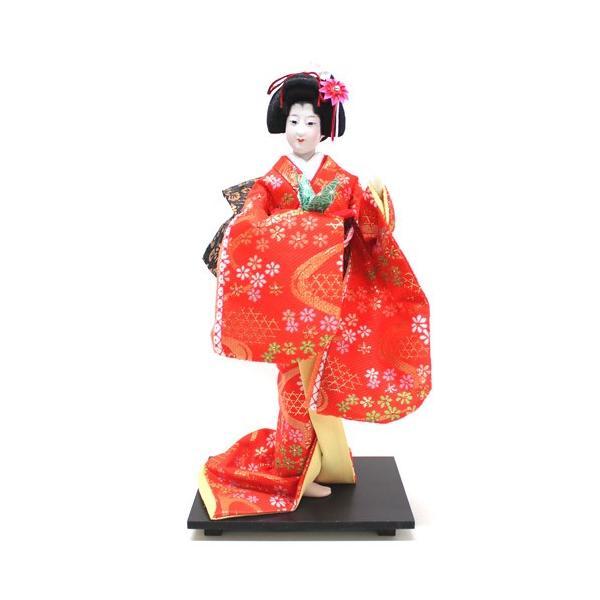 日本人形 尾山人形 金襴 『赤 金襴 祝鶴 6号』