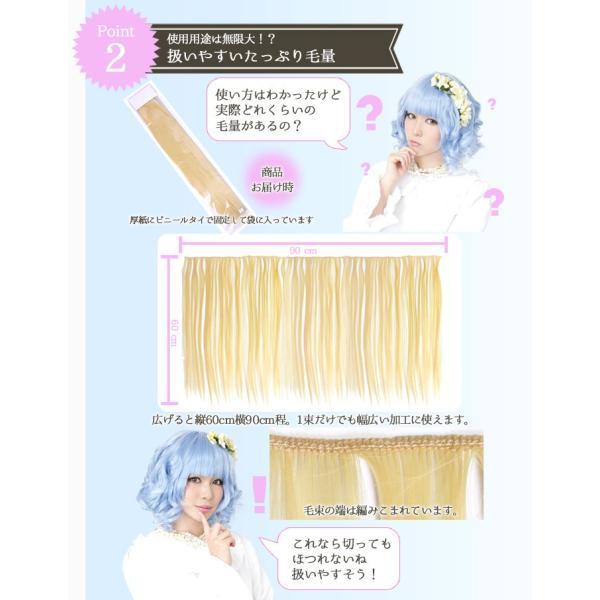 ウィッグ 毛束 ウイッグ エクステ エクステンション つけ毛 加工 耐熱 銀髪 毛束60cm サンドグレー(171)