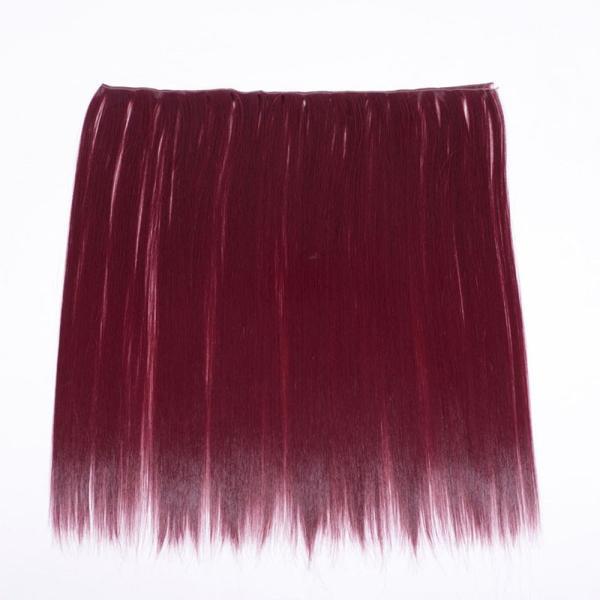 ウィッグ 毛束 ウイッグ エクステ エクステンション つけ毛 加工 耐熱 赤髪 毛束60cm ダークチェリー(530)