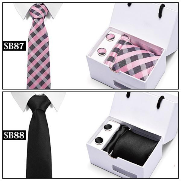 ネクタイ おしゃれ チーフ カフス ボタン セット 結婚式 黒 入学式 スーツ バレンタイン ギフト NT1|fujitatsu|11