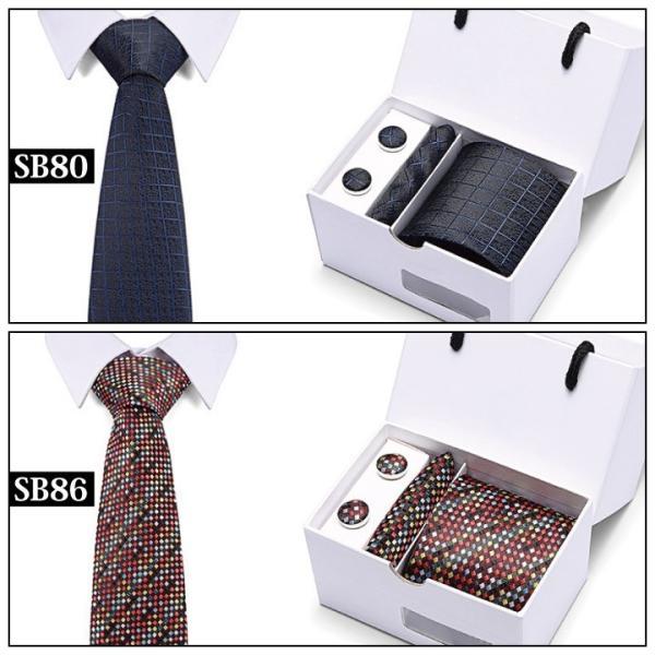 ネクタイ おしゃれ チーフ カフス ボタン セット 結婚式 黒 入学式 スーツ バレンタイン ギフト NT1|fujitatsu|10