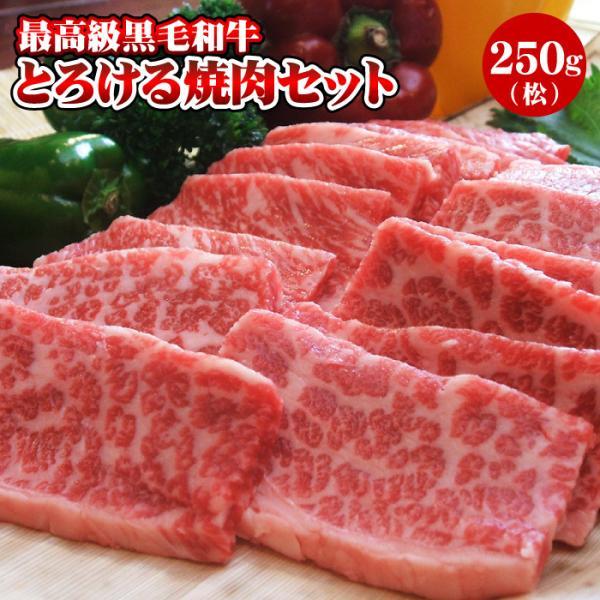 焼肉 黒毛和牛「極み」とろける焼肉セット 250g(2人前)(松) 焼き肉 お試しセット 送料無料
