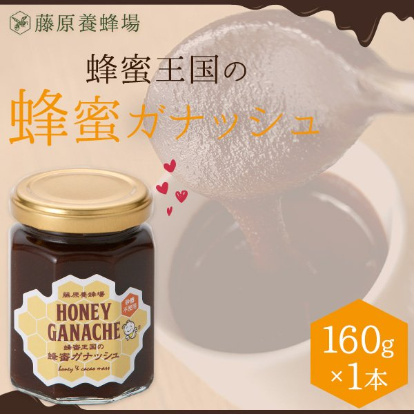 はちみつ 蜂蜜王国の蜂蜜ガナッシュ ハチミツチョコレート 贈り物に最適 160g 創業百二十余年老舗藤原養蜂場