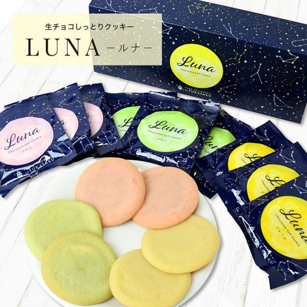 生チョコクッキー クッキー ギフト 詰め合わせ しっとりクッキー LUNA ルナ 3種15個入り プレゼント