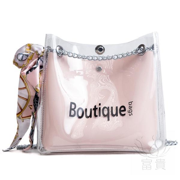 カバン 鞄 レディースショルダーバッグ バッグインバッグ  クリアバッグ 2WAY 通勤  斜め掛け 防水 巾着 アルファベット ビニールインバッグ|fuki-fashion