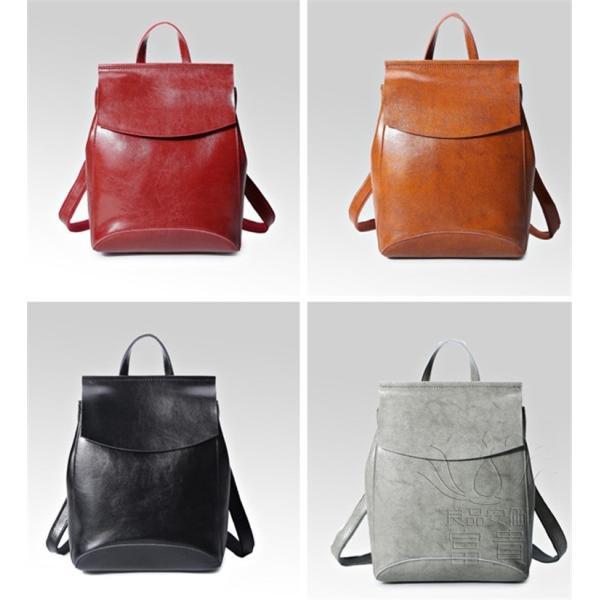 カバン 鞄 本革 ショルダーバック バックパック リュックバック グレー 4色展開 2WAY ipad/mini 対応 肩掛け 斜め掛け 無地 通学 旅行|fuki-fashion|02