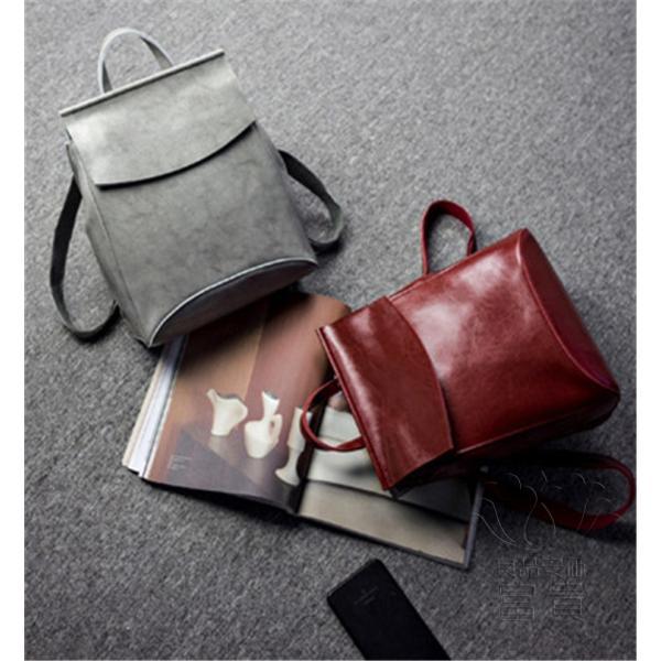 カバン 鞄 本革 ショルダーバック バックパック リュックバック グレー 4色展開 2WAY ipad/mini 対応 肩掛け 斜め掛け 無地 通学 旅行|fuki-fashion|17