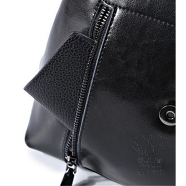 カバン 鞄 本革 ショルダーバック バックパック リュックバック レトロ風 4色展開 ipad/mini 対応 2WAY ベルト飾り 通勤 通学 旅行 肩掛け fuki-fashion 08