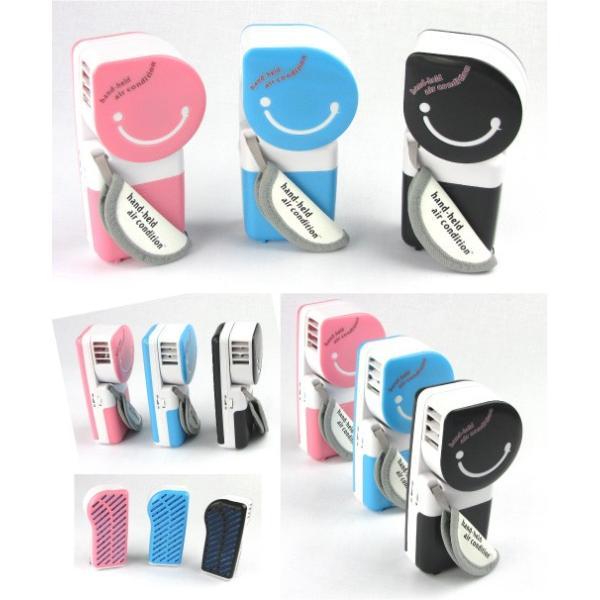 ハンディクーラー USB対応 電池対応  扇風機 携帯冷風機 携帯 扇風機 携帯扇風機 持ち運びもラクラク!冷たい扇風機ハンディクーラー スポットクー|fuki-fashion