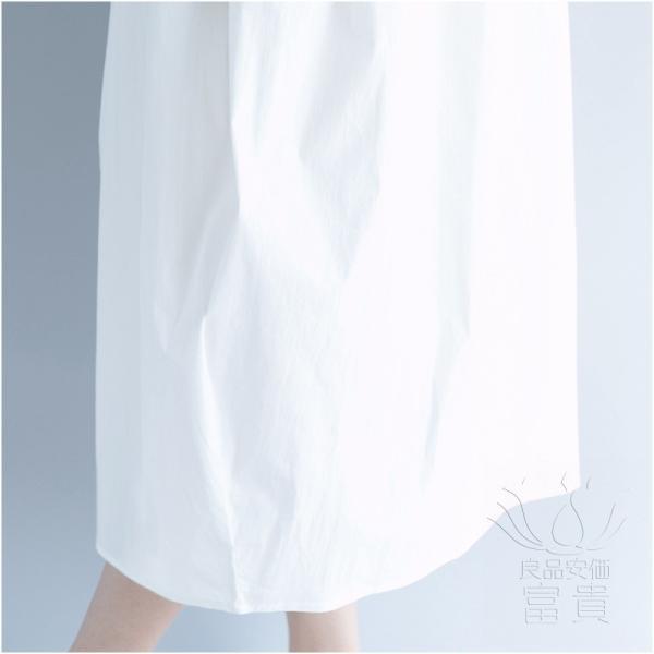 フハクワンピース 半袖 刺繍 ラウンドネックライン キリカエ ビッグシルエット ミドル丈 モダン 普段着 シンプル 通勤 爽やか|fuki-fashion|15