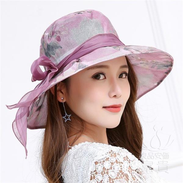 帽子 女性 UVカット 折畳める リボン飾り 花模様 つば広 海、登山 ファッション 通気性良い おしゃれ 春夏秋 女優帽 優雅 フェス、パーティー|fuki-fashion