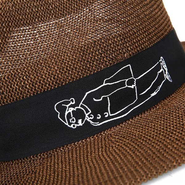 中折帽子 男女兼用 春夏秋 紫外線対策 北欧風 レトロ 紳士 プリント 通気性良い シンプル マリン 海、砂浜 地味 カジュアル コーディネートしやすい|fuki-fashion|09