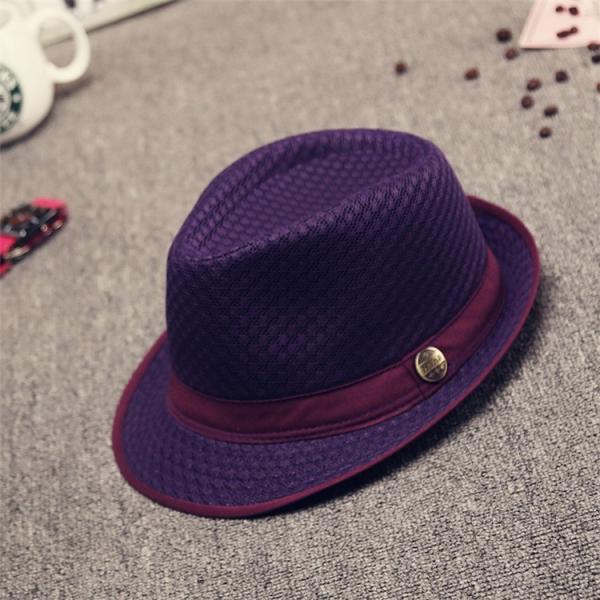 中折帽子 男女兼用 春夏秋 紫外線カット レトロ 紳士 イギリス風 メッシュ 網状 通気性良い リベット飾り 優雅 上品 カジュアル|fuki-fashion|08