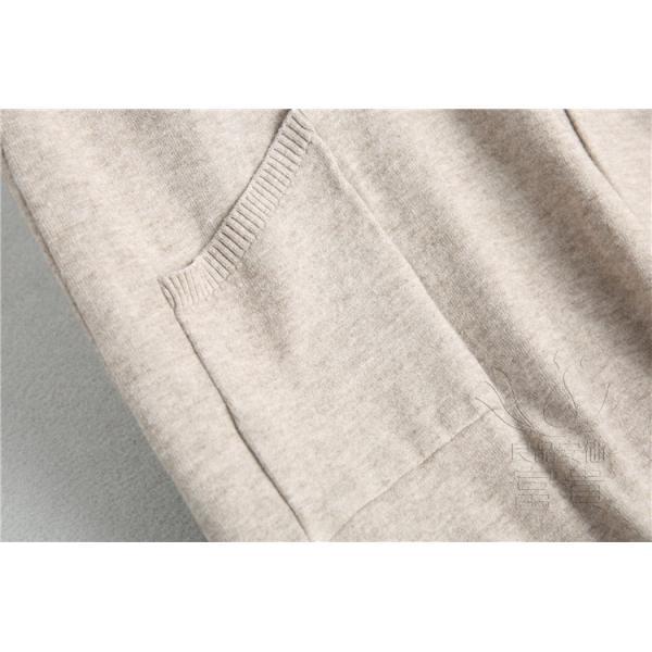 ニット セーター スカート レディース ノースリーブ ワンピース ジャンバー 無地 Vネック 体型カバー 通勤 フェミニン|fuki-fashion|13