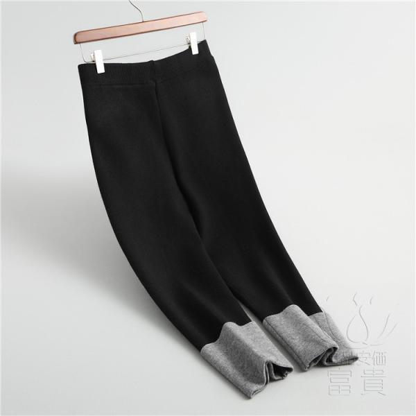ニット セーター ズボン レディース テーパードパンツ 無地 スポーティー 通勤 春秋 ゆったり おしゃれ|fuki-fashion|12
