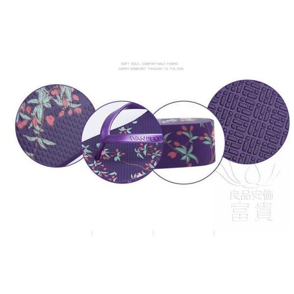 サンダル トング・サンダル ビーチサンダル 靴 厚底 花柄 可愛い 履きやすい 歩きやすい ビーサン  滑り止め 新作 紫 痛くない 履き心地|fuki-fashion|07