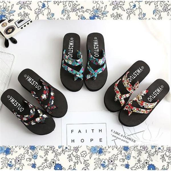 サンダル サムループ・サンダル ビーチサンダル 靴 厚底 花柄 可愛い 履きやすい ビーサン  滑り止め 痛くない オシャレ 新作 楽ちん カジュアル 履き心地|fuki-fashion|11
