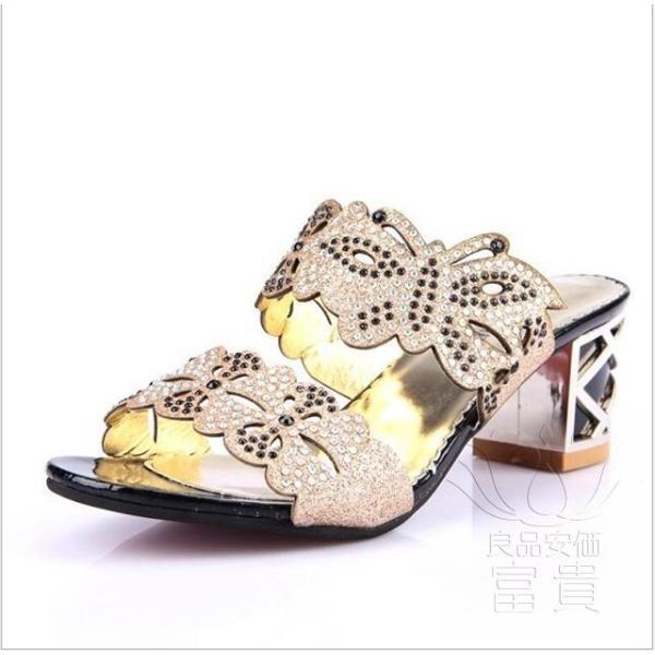 サンダル ヘップ・サンダル ミュール 靴 パンプス ミディアムヒール 太ヒール 軽い 歩きやすい キラキラ オフィス 滑り止め 履き心地  痛くない|fuki-fashion|08