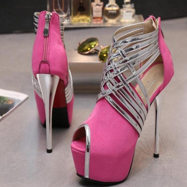 サンダル プラットフォーム・ソール? パンプス 靴 ストーム ハイーヒール キラキラ ピンヒール 美脚 ヒール パーティー 結婚式  オフィス 2次会 履きやすい|fuki-fashion