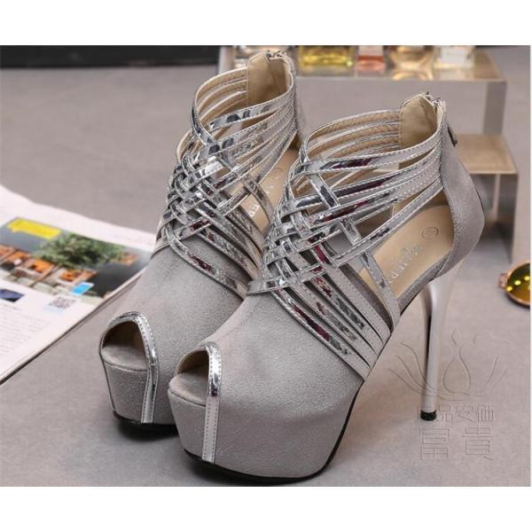 サンダル プラットフォーム・ソール? パンプス 靴 ストーム ハイーヒール キラキラ ピンヒール 美脚 ヒール パーティー 結婚式  オフィス 2次会 履きやすい|fuki-fashion|05