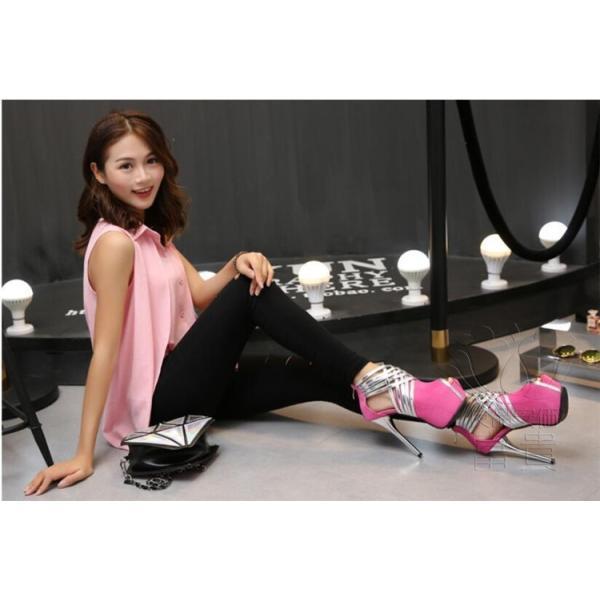 サンダル プラットフォーム・ソール? パンプス 靴 ストーム ハイーヒール キラキラ ピンヒール 美脚 ヒール パーティー 結婚式  オフィス 2次会 履きやすい|fuki-fashion|06