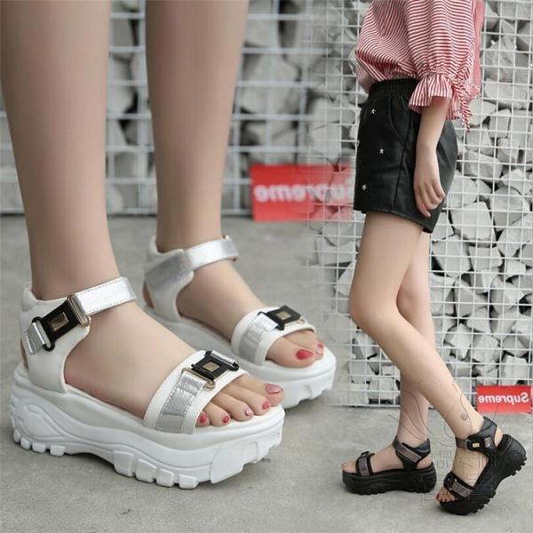 サンダル ミュール オープントゥ 靴 厚底 ハイヒール 履きやすい 柔らかい 疲れない 履き心地  レジャー用 痛くない  歩きやすい 滑り止め アウトドア|fuki-fashion|06
