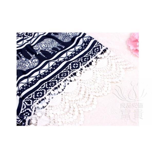 レディース水着 ビキニ4点セット セパレート フリル 体型カバー ビスチェ風 ホルタートップ 総柄 レース シースルー 幾何模様 温泉  人気 おすすめ|fuki-fashion|13