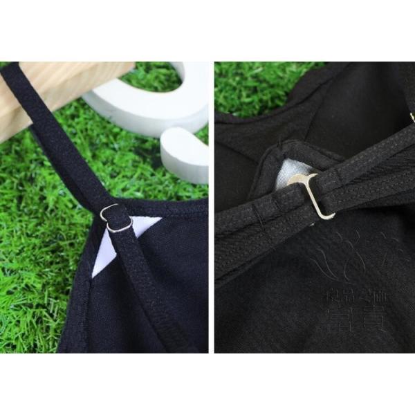 レディース水着 ビキニ3点セット セパレート 無地 シフォンフレア スカラップ 黒 ハイウエスト 可愛い シンプル 学生 温泉  人気 おすすめ|fuki-fashion|13