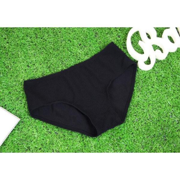 レディース水着 ビキニ3点セット セパレート 無地 シフォンフレア スカラップ 黒 ハイウエスト 可愛い シンプル 学生 温泉  人気 おすすめ|fuki-fashion|15