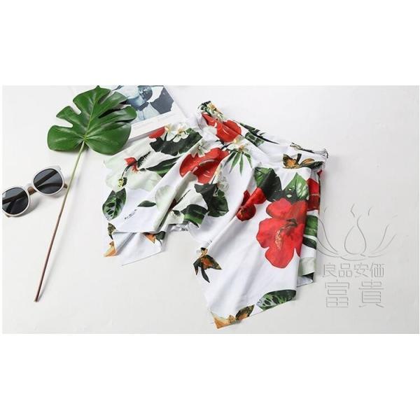 レディース水着 ビキニ2点セット セパレート フレア ホルターネック 花柄 フリンジ リボン ハイウエスト 肩見せ フォークロア 可愛い スクール 学生 少女|fuki-fashion|11
