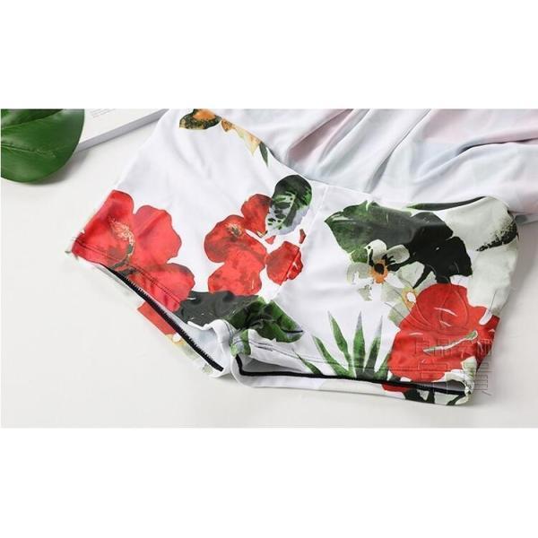 レディース水着 ビキニ2点セット セパレート フレア ホルターネック 花柄 フリンジ リボン ハイウエスト 肩見せ フォークロア 可愛い スクール 学生 少女|fuki-fashion|12