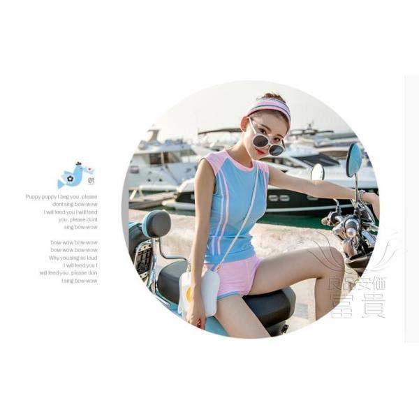 レディース水着 ビキニ2点セット セパレート フィットネス ストライプ柄 黒白 幾何模様 上下別柄 短ズボン スクール 学生 シンプル カジュアル おしゃれ|fuki-fashion|10