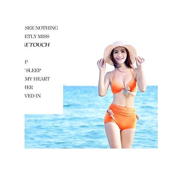 水着 レディース水着 ビキニ スタイリッシュ水着 ノーマルサイズ水着 小さいサイズ水着 ハイウェスト水着 ショルターホールド水着 無地水着 fuki-fashion 02
