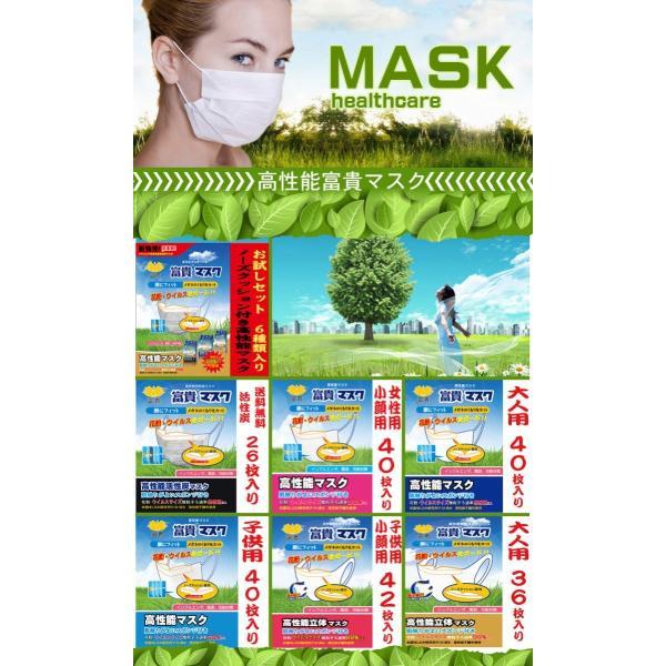 マスク 子供 幼稚園児 低学年小学生 サージカルマスク 使い捨て 花粉対策 インフルエンザ予防 N95マスク(富貴マスク 園児、小学生用40枚) 薄いが高性能|fuki-lingerie|02