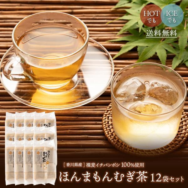 ほんまもんむぎ茶 10g×52パック入袋12個セット 送料無料 香川県産イチバンボシ100%国産麦茶 煮だし 水だし 冷茶