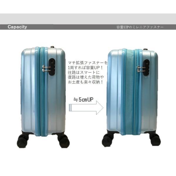 スーツケース ファスナー 拡張 機内持ち込みサイズ ダイヤルロック 40l 一泊 二泊 三泊|fuku2|04