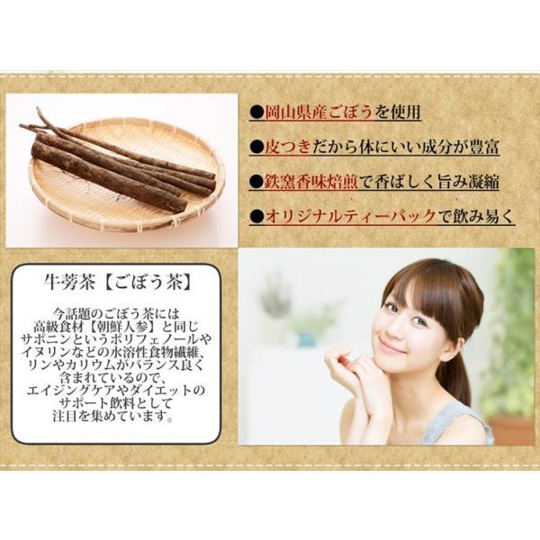 ごぼう茶 ゴボウ茶 牛蒡茶 国産 茶 健康茶 送料無料 ティーバッグ 30包 ふくちゃ 福茶|fukucha|02