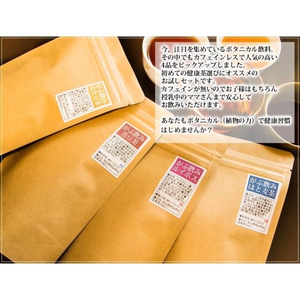 お試し セット 送料無料 茶 健康茶 ティーバッグ ルイボスティー 緑茶 はと麦茶 黒豆茶 紅茶 ふくちゃ 福茶|fukucha|02