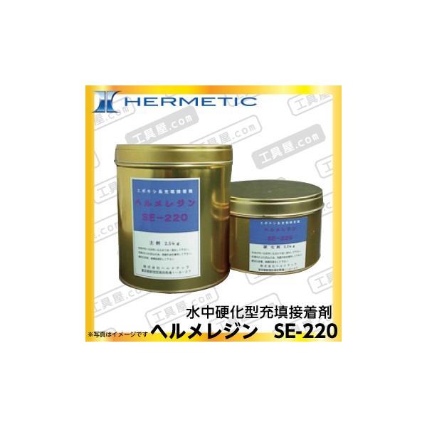 ヘルメチックヘルメレジンSE-220(水中硬化型充填接着剤)3kgセット(代引不可)