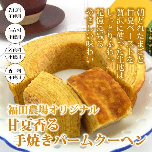 ギフト バウムクーヘン スイーツ 国産 甘夏 しっとり 手焼き 熊本|fukuda-farm
